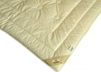 Bettdecke Modicana 155 x 220 / 625 g - Extra leichtes Sommer Steppbett mit KBT Merino Füllung und Bio Cotton KBA Bezug – Bild 2