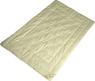 Bettdecke 135 x 200 / 800 g - Leichtes Übergangszeit Steppbett Garanta 100% Kamelhaar Füllung und Bio Cotton KBA Bezug