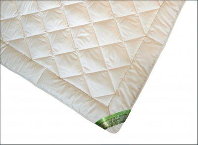 Bettdecke Garanta 135 x 200 / 800 g - Leichtes Sommer Steppbett mit Seiden / Baumwolle Füllung 001