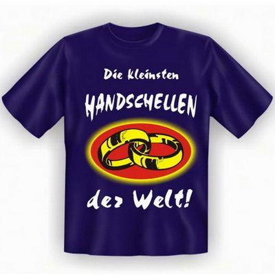 lustiges T-Shirt mit dem Motiv - Kleinste Handschelle - im Geschenk Set mit Mini T-Shirt Bild 2