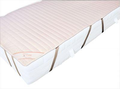 Matratzenauflage Modicana 200 x 200 Auflage Soft and Care aus 100% Baumwolle - Extra leicht 225g/m² - Mit 8 Spanngummis für sicheren Halt - Geeignet für Motorrahmen - Trocknergeeignet 001