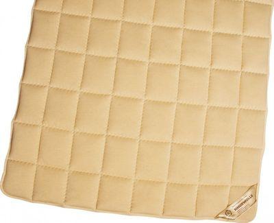 Matratzenauflage Modicana 100 x 200 Auflage aus 100% Schurwolle 750g/m² - Bezug Makotrikot / Edelsatin - Hochwertiges Unterbett für erholsamen Schlaf
