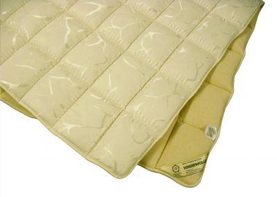 Matratzenauflage Modicana 200 x 200 Auflage aus 100% Schurwolle 1000g/m² - Bezug Makotrikot / Drell V654 - Hochwertiges Unterbett für erholsamen Schlaf