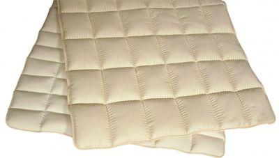 Matratzenauflage Modicana 90 x 190 Auflage mit 100% Merino Füllung 900g/m² - Bezug Nickysamt / Edelsatin - Hochwertiges Unterbett für erholsamen Schlaf
