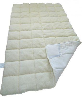 Matratzenauflage Modicana 90 x 190 Auflage mit 100% Merino Füllung 550g/m² - Bezug Merinoflor / Makotrikot - Hochwertiges Unterbett für erholsamen Schlaf