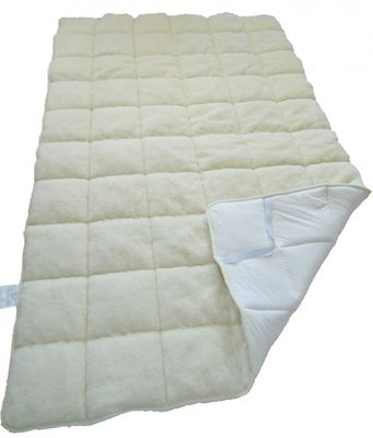 Matratzenauflage 90 x 200 Garanta Auflage mit 100% Merino Füllung 550g/m² - Bezug Merinoflor / Edelsatin - Hochwertiges Unterbett für erholsamen Schlaf