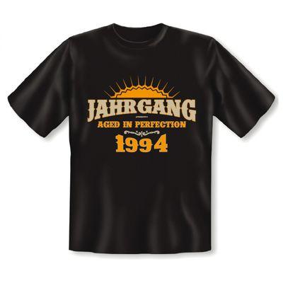 T-Shirt als lustiges Geschenk zum Geburtstag - Aged in Perfection 1994 - Geburtstagsgeschenk mit Jahrgang - Schwarz Bild 2