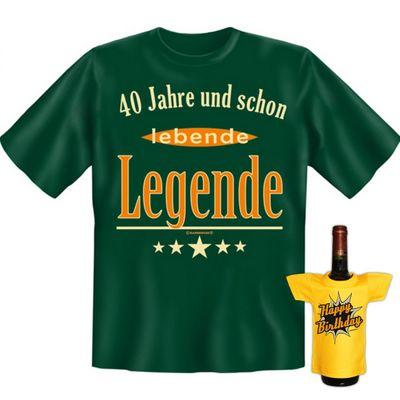 Fun T-Shirt mit dem Motiv - Lebende Legende mit 40 - als Geschenk zum Geburtstag im Set mit Mini T-Shirt zum Geburtstag Bild 4