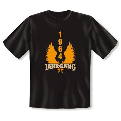 T-Shirt als lustiges Geschenk zum Geburtstag - 1964 er Jahrgang - Fun Hemd als Geburtstagsgeschenk - Schwarz Bild 2