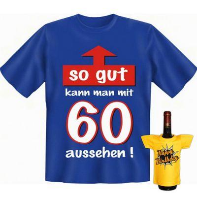 Fun T-Shirt mit dem Motiv - So gut kann man mit 60 aussehen - als Geschenk zum Geburtstag im Set mit Mini T-Shirt Bild 4