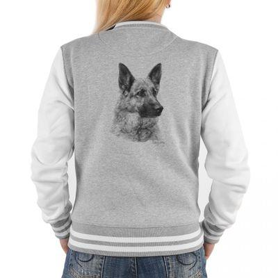 Damen College Jacke Hunderasse - Hund Deutscher Schäferhund - Tolles Outfit oder Geschenk Idee mit Rassehund Motiv