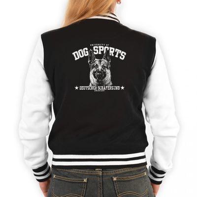 Damen College Jacke Hunderasse - Hund Deutscher Schäferhund - Cooles Outfit oder Geschenk Idee mit Rassehund Motiv