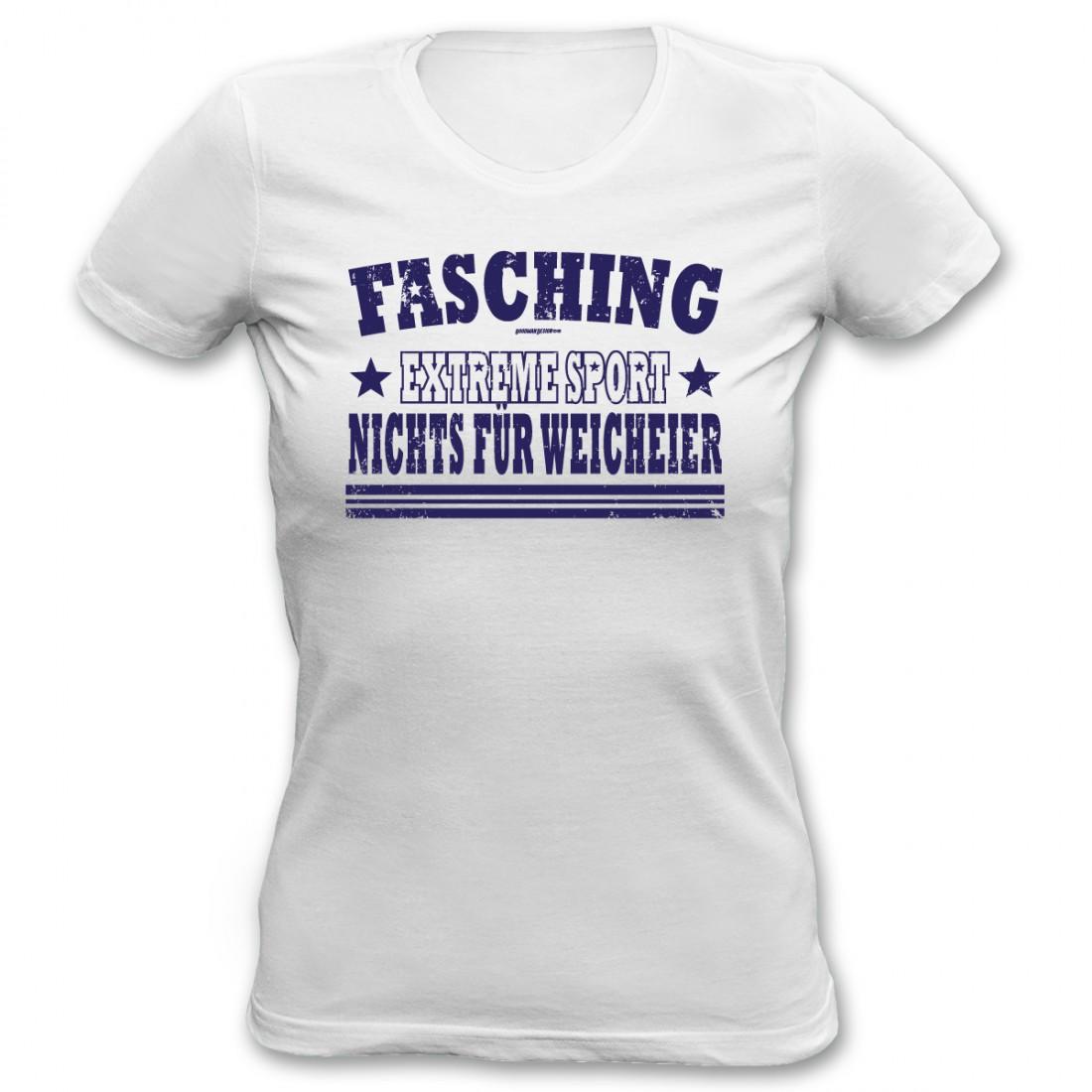 Damen T Shirt Fasching Ist Nichts Fur Weicheier Witzig Geschenk