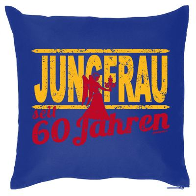 kissen sofakissen sternzeichen 60 geburtstag jungfrau 60 jahre geschenk funwarestore. Black Bedroom Furniture Sets. Home Design Ideas