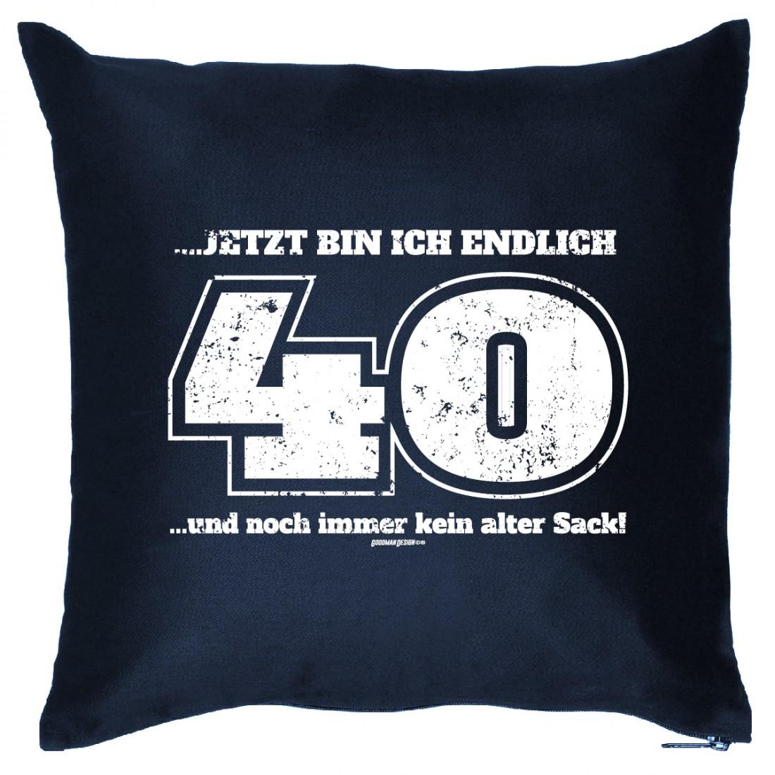 Kissen 40 Geburtstag Endlich 40 Jahre Kein Alter Sack Geschenk