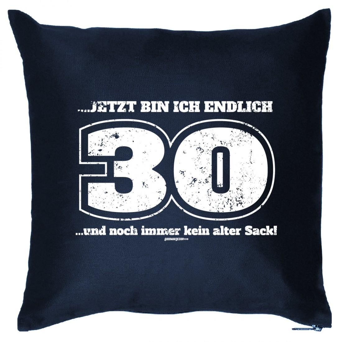 couchkissen 30 geburtstag 30 jahre und kein alter sack sofakissen geschenk funwarestore. Black Bedroom Furniture Sets. Home Design Ideas