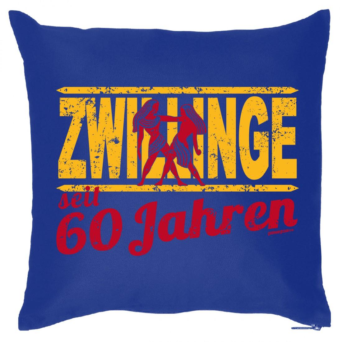 sternzeichen kissenbezug 60 geburtstag zwillinge 60 jahre humor geschenk funwarestore. Black Bedroom Furniture Sets. Home Design Ideas