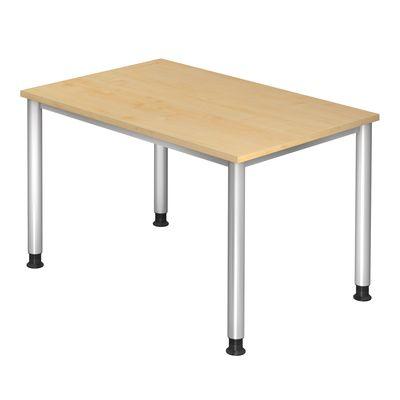 Schreibtisch DR-Büro - 120 x 80 cm - 7 Farbvarianten - Gestell in silber - stufenlos höheneinstellbar von 68 bis 76 cm – Bild 2