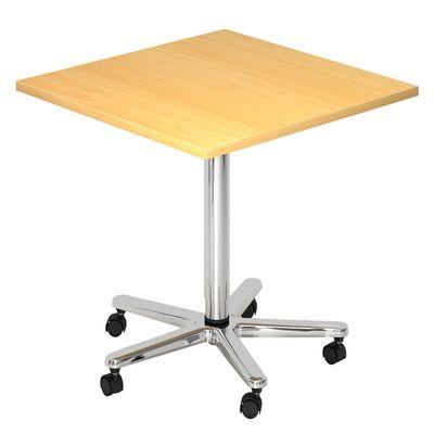Säulenhubtisch DR-Büro Serie VST 80x80 cm - Meetingtisch verstellbar 72 bis 114 cm - 7 Farben - Rollen – Bild 3