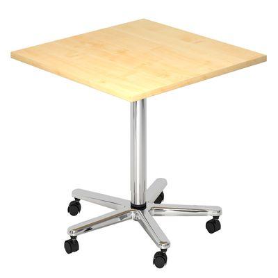 Säulenhubtisch DR-Büro Serie VST 80x80 cm - Meetingtisch verstellbar 72 bis 114 cm - 7 Farben - Rollen – Bild 1
