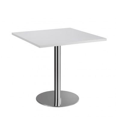 Besprechungstisch DR-Büro Serie VSTF - 80x80 cm - Meetingtisch Höhe 74,5 cm - 7 Farben - Gestell chrom – Bild 2