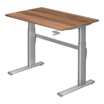 Steh-Sitz Schreibtisch DR-Büro Serie XK - 120 x 80 - 7 Farben - verstellbar bis 119 cm - Kurbelantrieb – Bild 3