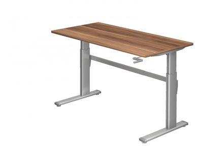 Steh-Sitz Schreibtisch DR-Büro Serie XK - 160 x 80 - 7 Farben - verstellbar bis 119 cm - Kurbelantrieb – Bild 1