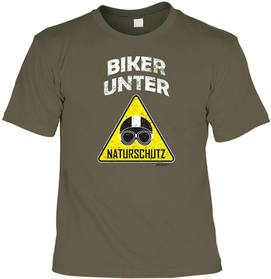 T Shirt Motorrad Biker Unter Naturschutz Witziges Geschenk