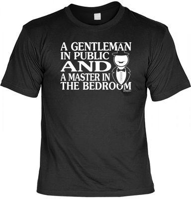 Lustiges Männer Fun T-Shirt - a Gentleman and a Master - coole witzige Geschenk Idee Ehe Partner SM
