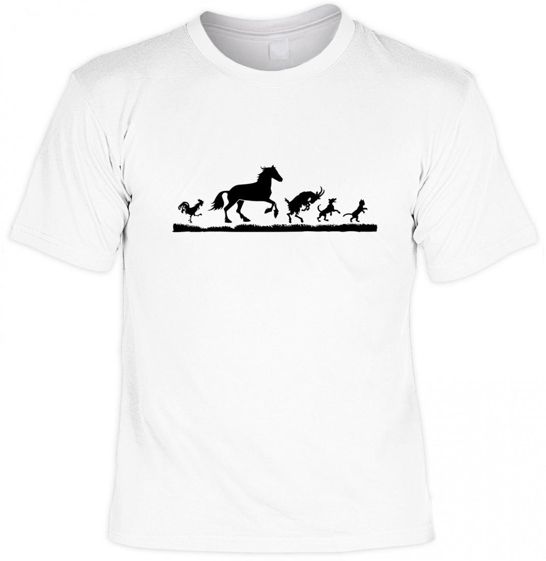 lustiges tiere t shirt hahn pferd ziegenbock hund katze. Black Bedroom Furniture Sets. Home Design Ideas
