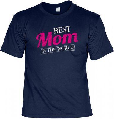 T-Shirt Set für die Mutter - Best Mom in the world - Geschenk Idee Geburtstag Muttertag Urkunde Mama
