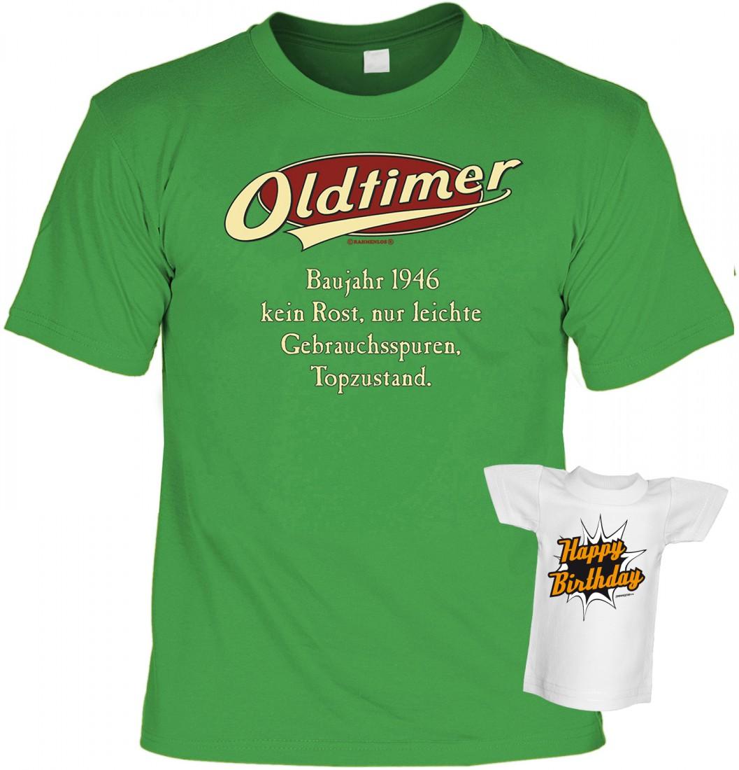 T Shirt Geburtstag Oldtimer 1946 Jahrgang Geschenk Idee Set Inkl