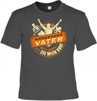 T-Shirt Set mit Mini T-Shirt - werdender Vater - witziges Funshirt als Geschenk Geburt Baby Schwangerschaft Bild 2