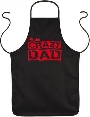 witzige Schürze - Im the crazy Dad - bedruckte Schürze als Geschenk zum Geburtstag des Papas oder zum Vatertag Bild 2