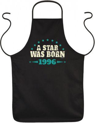 Schürze als lustiges Geschenk zum Geburtstag - A Star was Born 1996 - Geburtstagsgeschenk mit Jahrgang Bild 2