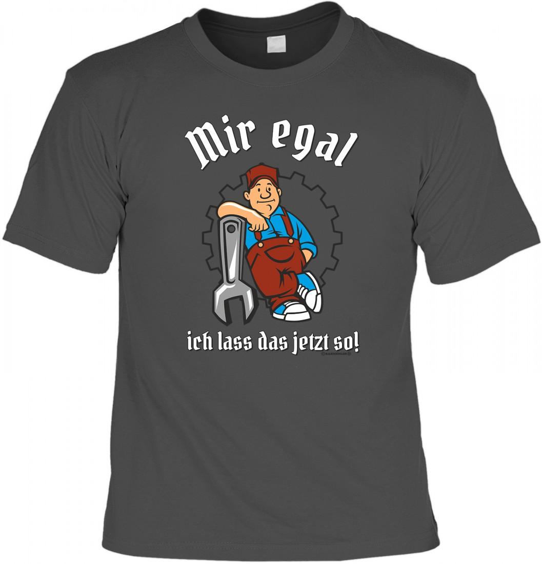 T-Shirt Funshirt - Ich lass das jetzt so - witziges Spruchshirt als  Geschenk für Handwerker und Heimwerker
