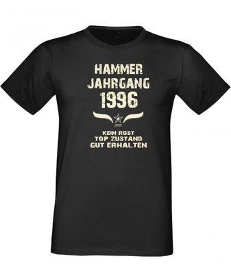 T-Shirt als lustiges Geschenk zum Geburtstag - Hammer Jahrgang 1996 - Fun-Shirt als Geburtstagsgeschenk - Schwarz