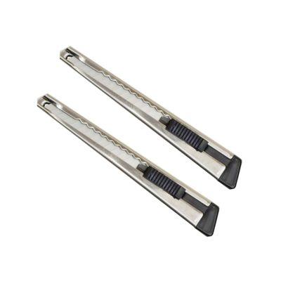 Doppelpackung - 9mm Cutter Messer für Grafiker und Designer - zum Schneiden aus rostfreiem Stahl - Farbe: silber – Bild 1