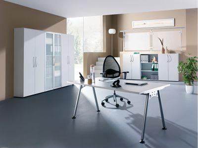 DR-Büro Serie A - 80 x 80 cm - Besprechungstisch 7 Farben - höheneinstellbar 68 bis 76 cm - Kabelwanne – Bild 10