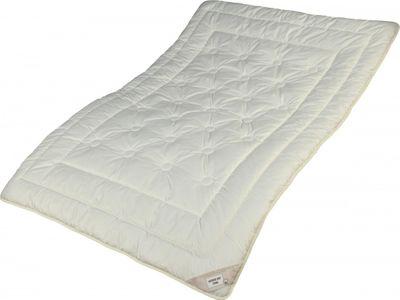Zirbe Bettdecke Modicana 135 x 220 cm - Extra leichtes Sommer Steppbett - Füllung KBA Merino Schafschurwolle und Zirbenholz Spänen – Übergröße – Bild 1