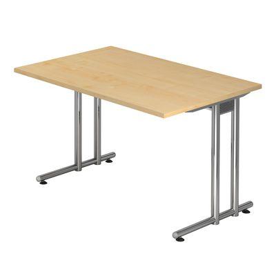 Schreibtisch DR-Büro Serie N - 120 x 80 cm - 7 Farben - Arbeitshöhe 72 cm - Gestell Chrom - Kabelwanne