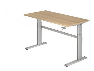 Steh-Sitz Schreibtisch DR-Büro Serie XK - 160 x 80 - 7 Farben - Kurbelantrieb - verstellbar bis 119 cm – Bild 2