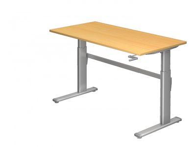 Steh-Sitz Schreibtisch DR-Büro Serie XK - 160 x 80 - 7 Farben - Kurbelantrieb - verstellbar bis 119 cm – Bild 3