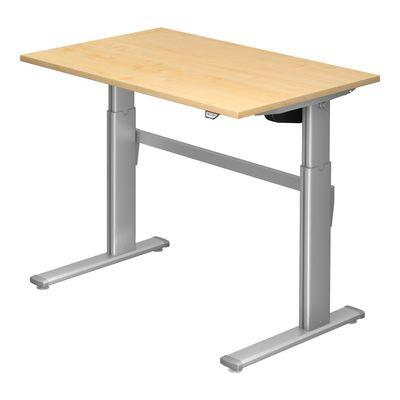 Steh-Sitz Schreibtisch DR-Büro Serie XM - 120 x 80 - 7 Farben - elektrisch höhenverstellbar bis 119 cm – Bild 2