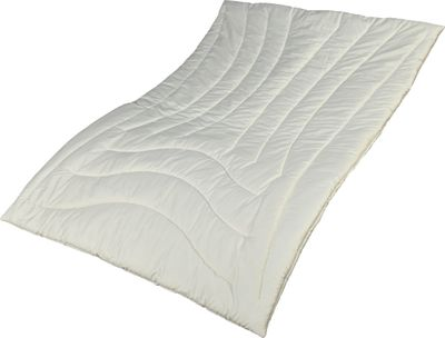 Zirbe Bettdecke Alpenglück 155 x 200 cm - Extra leichtes Sommer Steppbett - Füllung KBA Schafschurwolle und Zirbenholz – Bild 1
