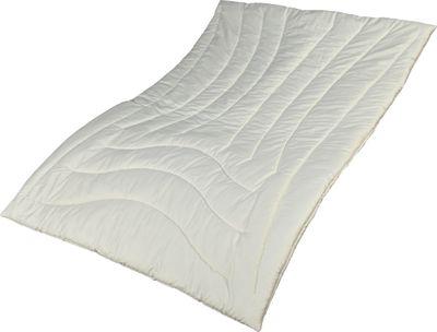Zirbe Bettdecke Alpenglück 135 x 220 cm - Leichtes Steppbett - Füllung KBA Schafschurwolle und Zirbenholz – Bild 1