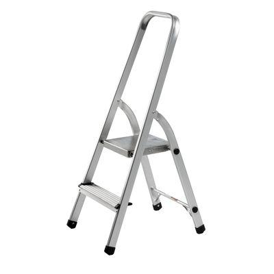 Mehrzweck Klappleiter DR-Büro 1480 - Aluminium - Gesamthöhe 104 cm - Breite Standfuß 40,5 cm - Stufen und Plattform sind geriffelt - 2 stufig – Bild 2