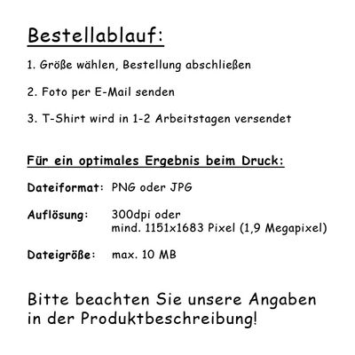 Foto-Shirt für Rentner – Bedrucktes T-Shirt mit Wunschbild als originelles Geschenk zum Ruhestand in 5 versch. Farben Bild 3