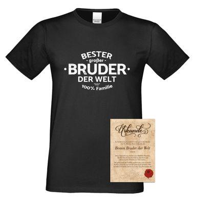 Family T-Shirt - Bester großer Bruder der Welt - lustiges Hemd als passendes Geschenk oder Outfit für Brüder - schwarz Bild 2