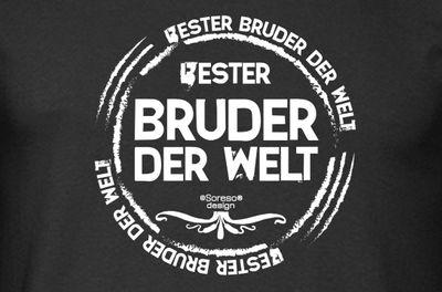 Family T-Shirt - Bester Bruder der Welt - bedrucktes Hemd als passendes Geschenk oder Outfit für Brüder - schwarz Bild 3